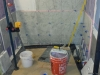 tile bathroom construction in progress