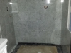 Carrara shower in progress