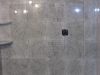 Curbless tile shower in progress