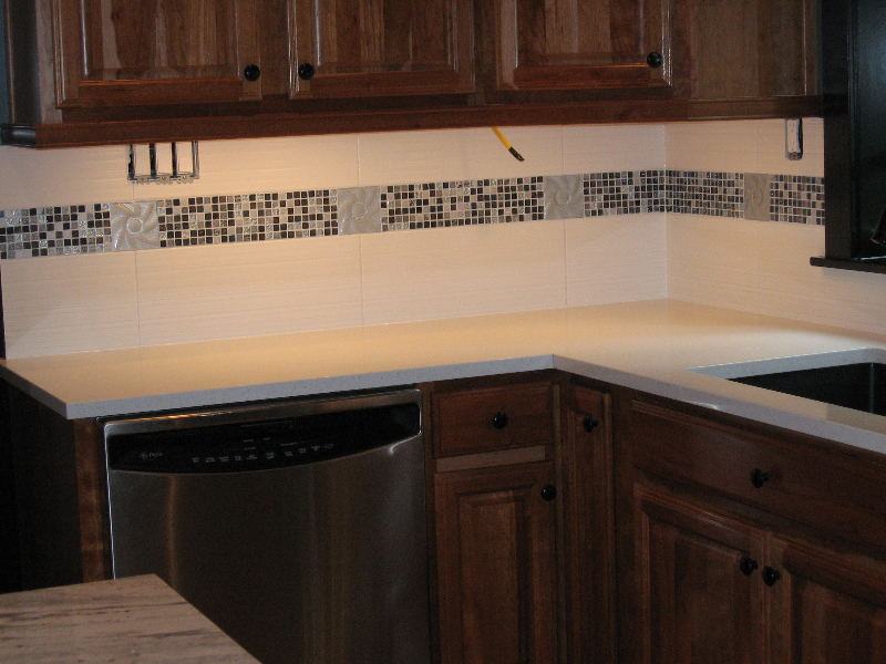 Full height tile kitchen backsplash
