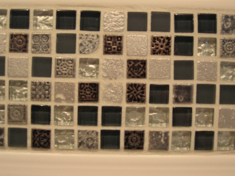 Stone and Glass and Deco mixed mosaic