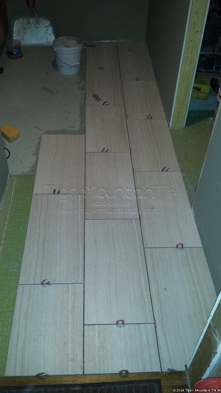 MI 12x24 floor tile in progress