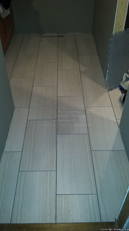 MI floor tile ready to grout