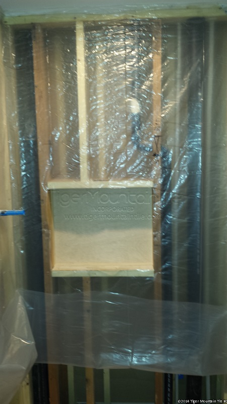 MI moisture barrier on framing