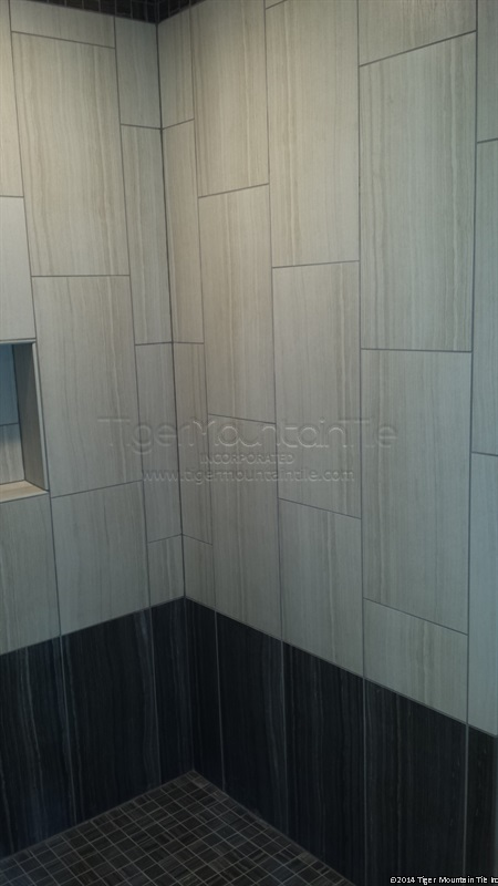 MI shower finished side wall