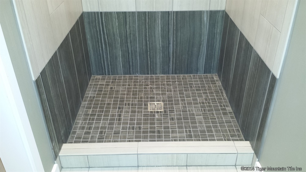 MI shower pan finished