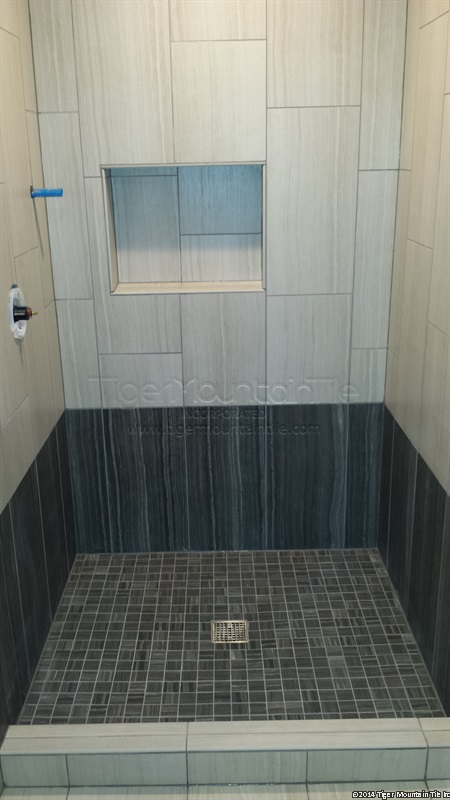 MI tile shower finished