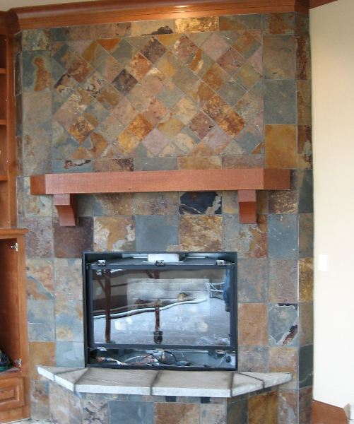 Slate Fireplace in the Sahalee Neighborhood in Sammamish