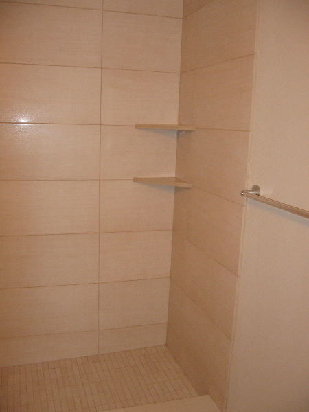 Right side of shower