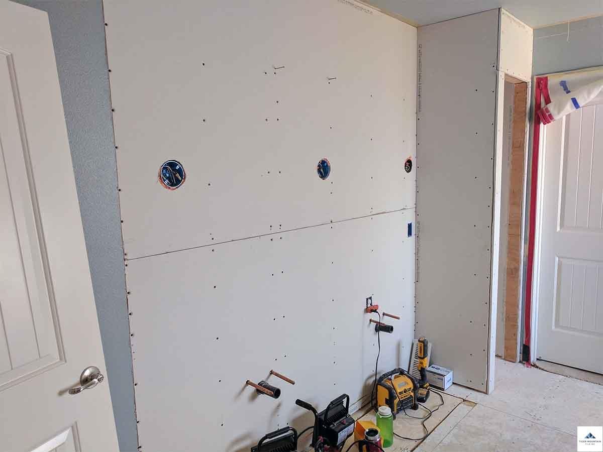 Snoqualmie bathroom remodel in progress 12
