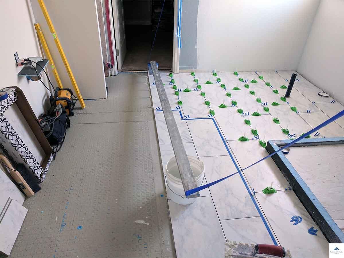 Snoqualmie bathroom remodel in progress 17