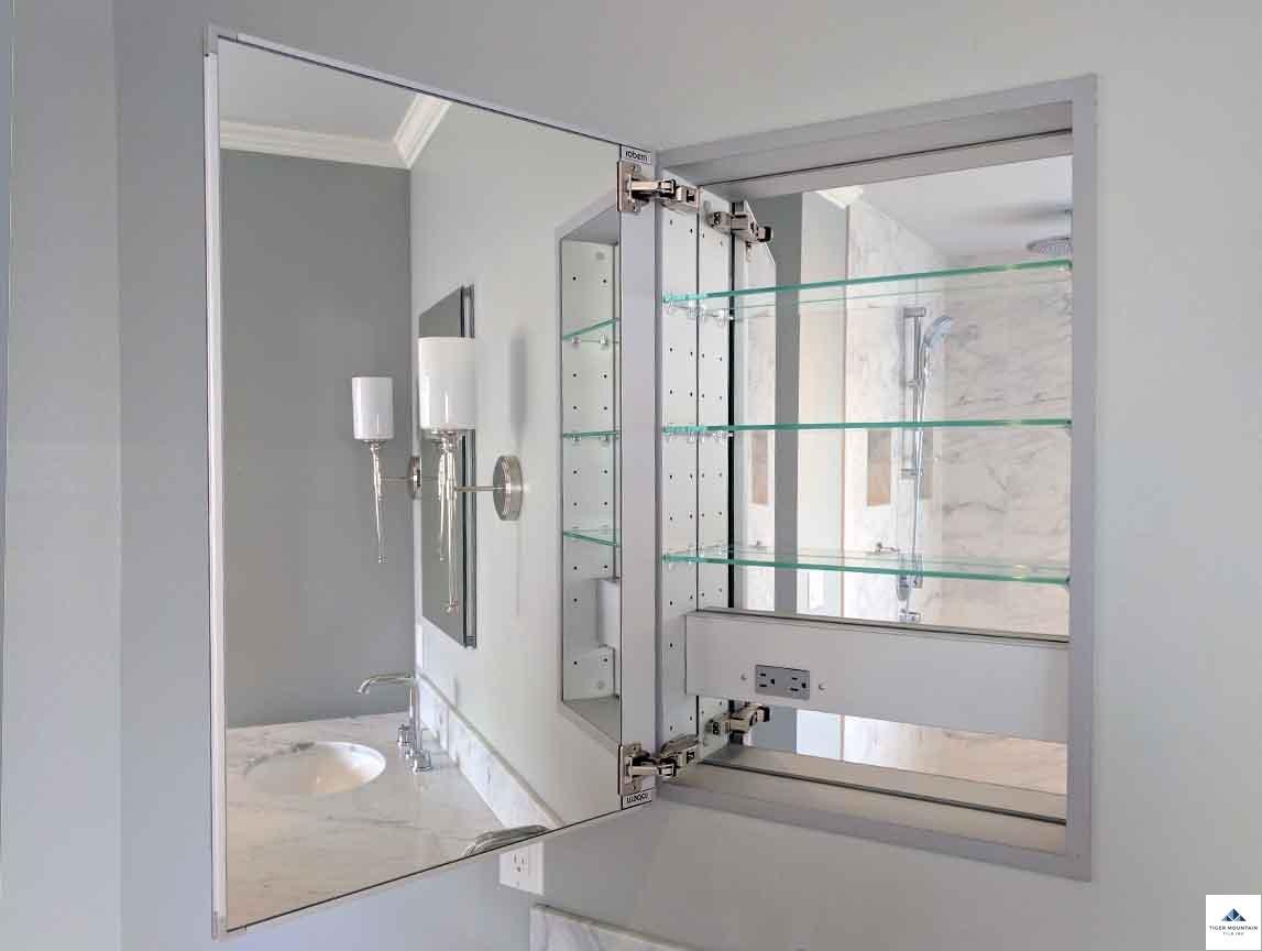 Snoqualmie Ridge mirrored medicine cabinet renovation