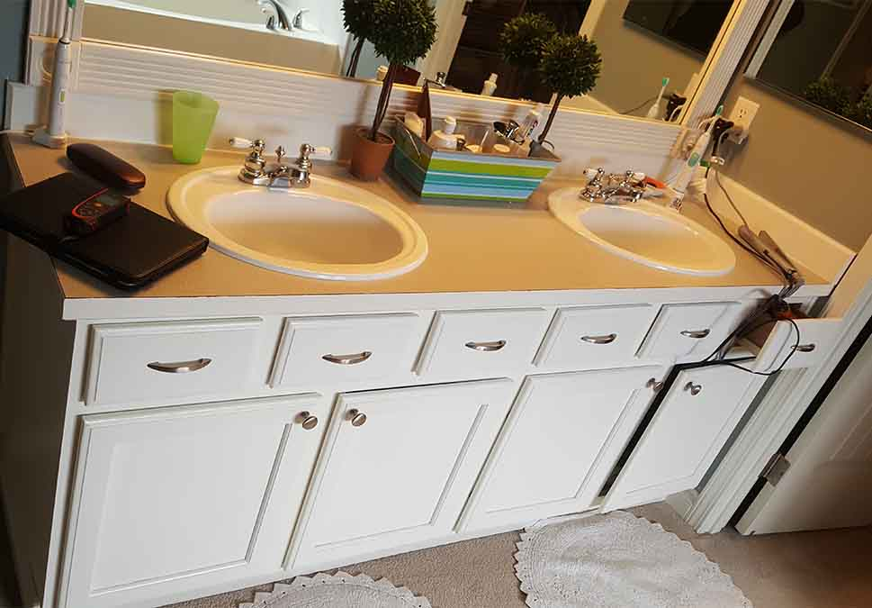 Snoqualmie Ridge before bathroom vanity