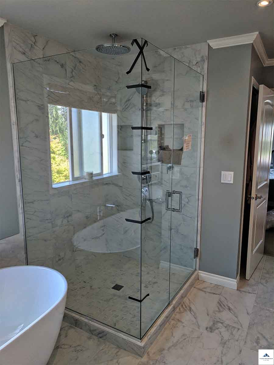 Snoqualmie shower glass enclosure