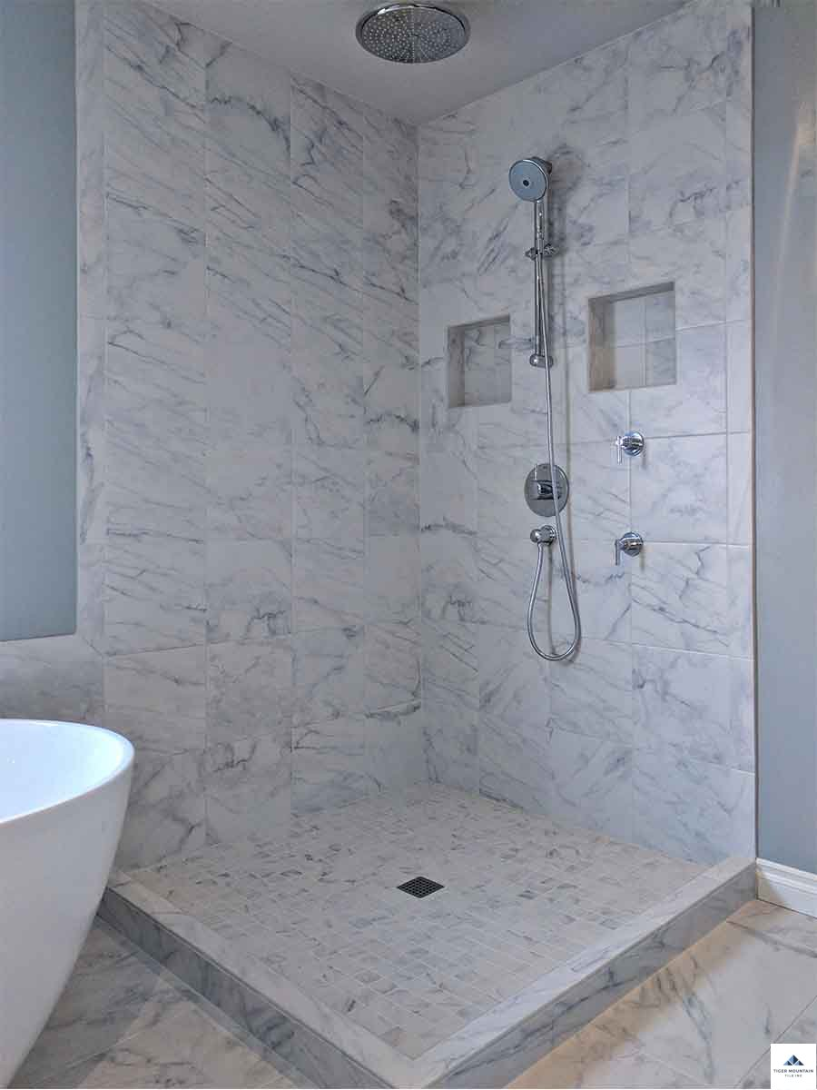 snoqualmie tile shower renovation