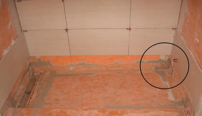 Waterproof shower floor membrane meze blog for Bathroom floor installation