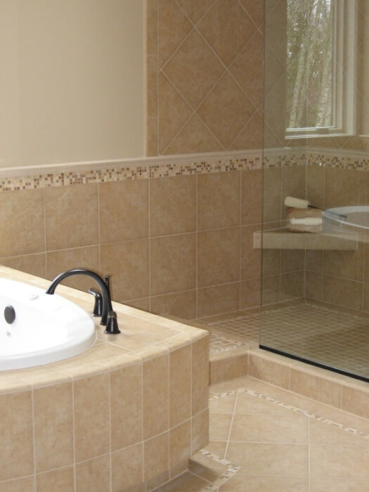 Wainscoting ideas bathroom - This Photo Shows The Stripe Being 3 Ft High And Running Around The