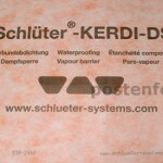 Kerdi DS steam shower waterproof membrane for steam showers