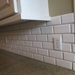 Sammamish 3x6 tile backsplash marble