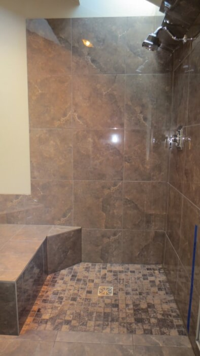 curbless issaquah shower in Klahanie neighborhood tile master bathroom remodel