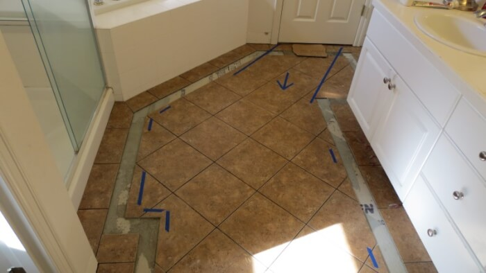 Sammamish homeowners access was always considered during tile floor construction