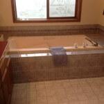 Old Sammamish Bathroom tile before