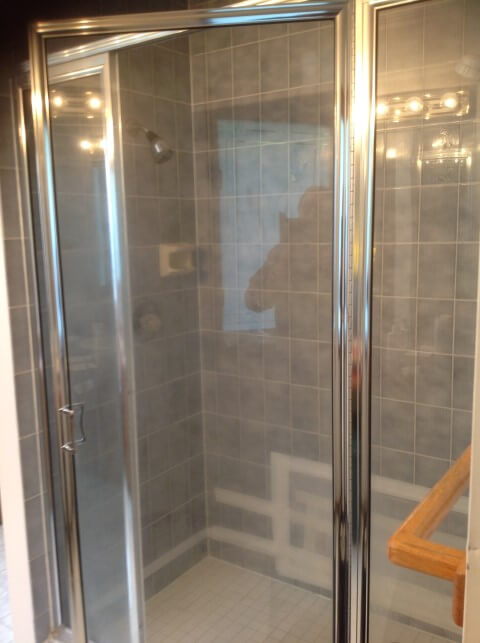 Sammamish water damage leaking tile shower before