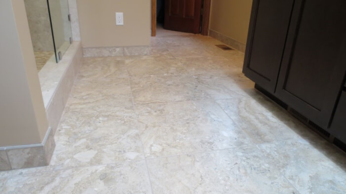 tile floor base sammamish bathroom