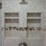 sammamish washington recessed tile shampoo niche with shelf