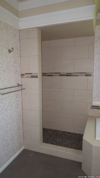 skinny wall for shower doors