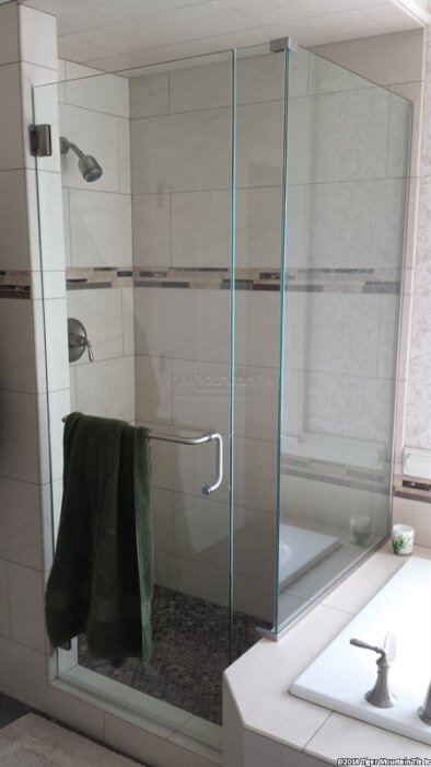 frameless shower glass enclosure