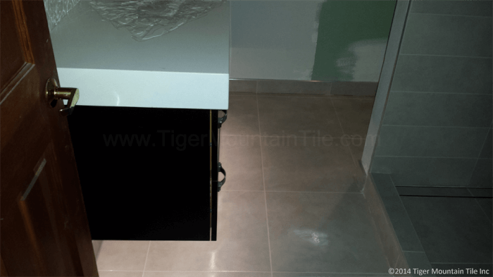 LED lights with floating vanity